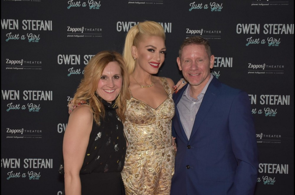 My husband and I meeting Gwen Stefani at the Meet and Greet before her show in Las Vegas.