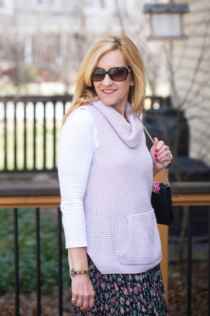 Vince Camuto Pink Sweater Vest