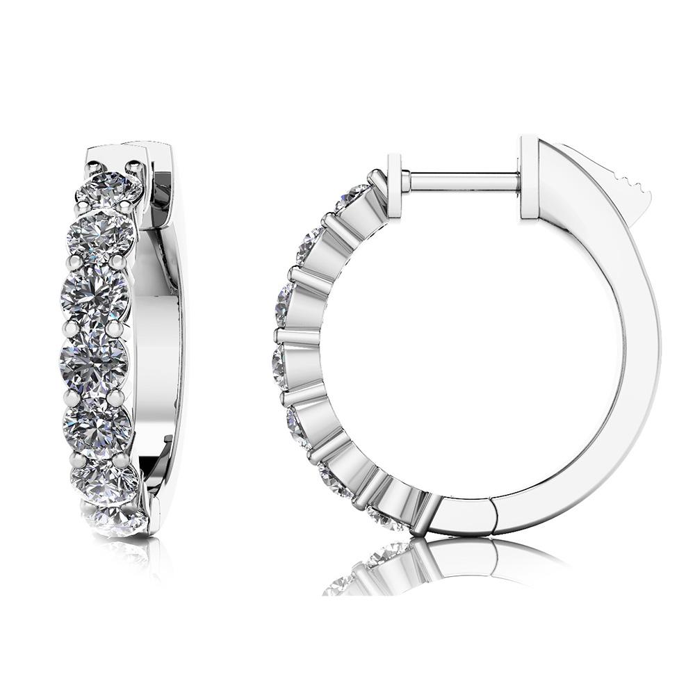 Elegant Diamond Hoops from Anjolee
