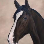 mare, horse painting by Kathrin Guenther, equine art