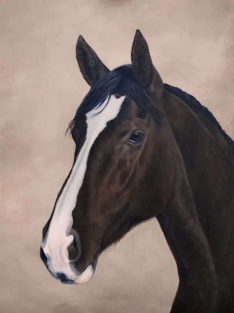 horse, mare, painting, Kathrin Guenther, art, acrylic