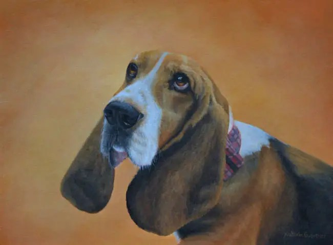 beagle painting Kathrin Guenther acrylic art