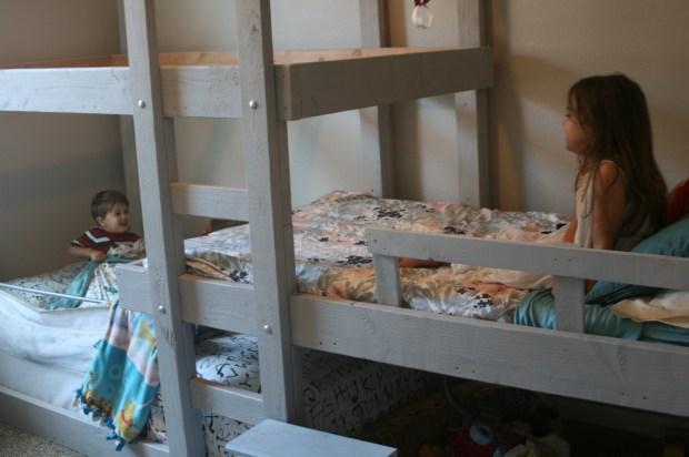 Photo of kids enjoying Triple Bunk Bed