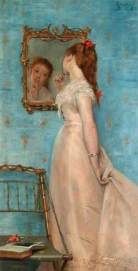 Girl Looking in the Mirror