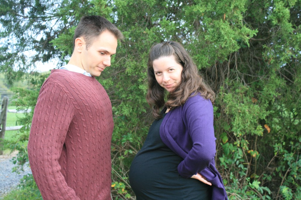 Kyle and pregnant Kathryn Anne Casey