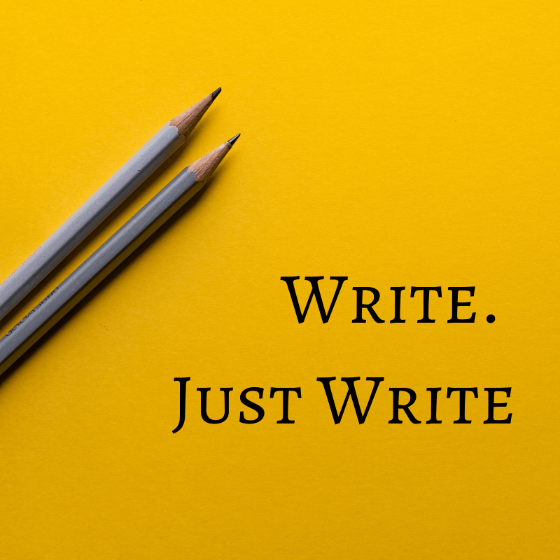 pencils with text write. just write
