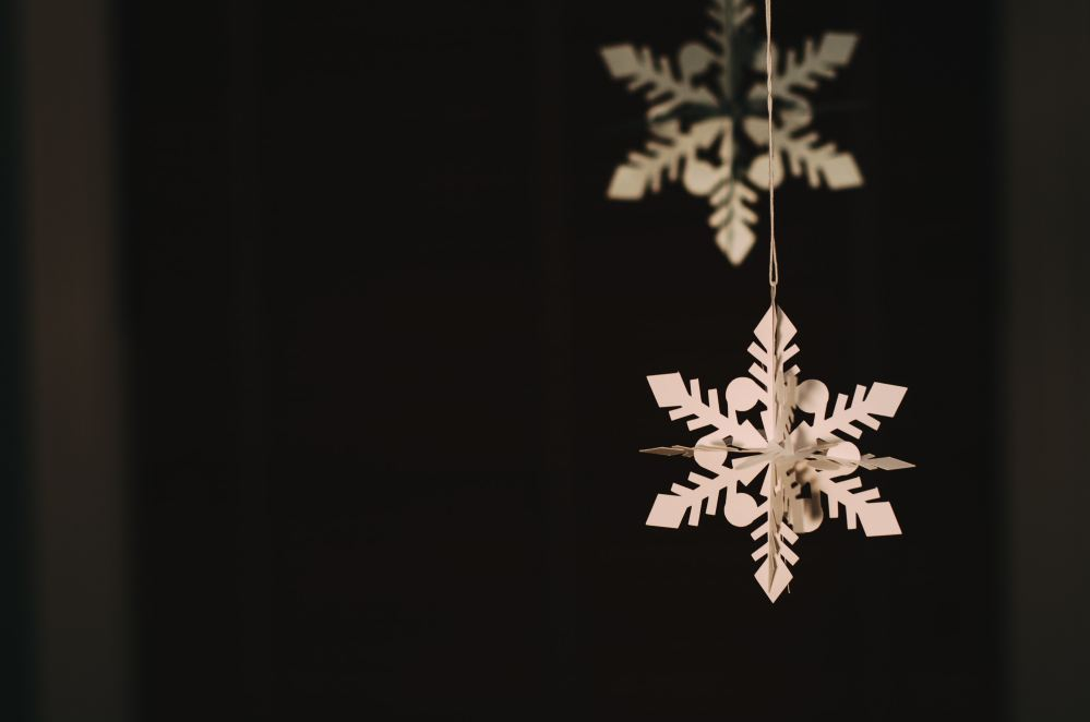 Christmas craft of wooden snowflake