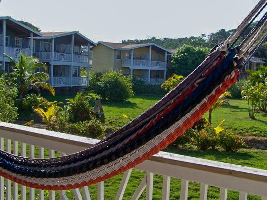 Henry Morgan Courtyard grounds in West Bay Roatan, Honduras