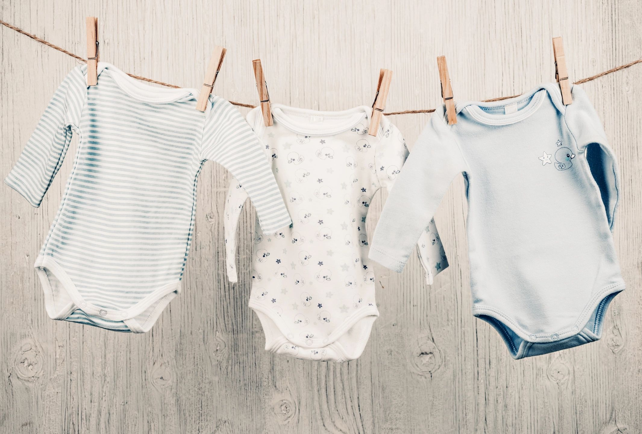 baby clothing hanging on a line