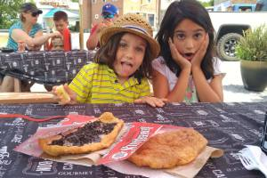 my kids with beaver tails in killaloe, photo by brian tao