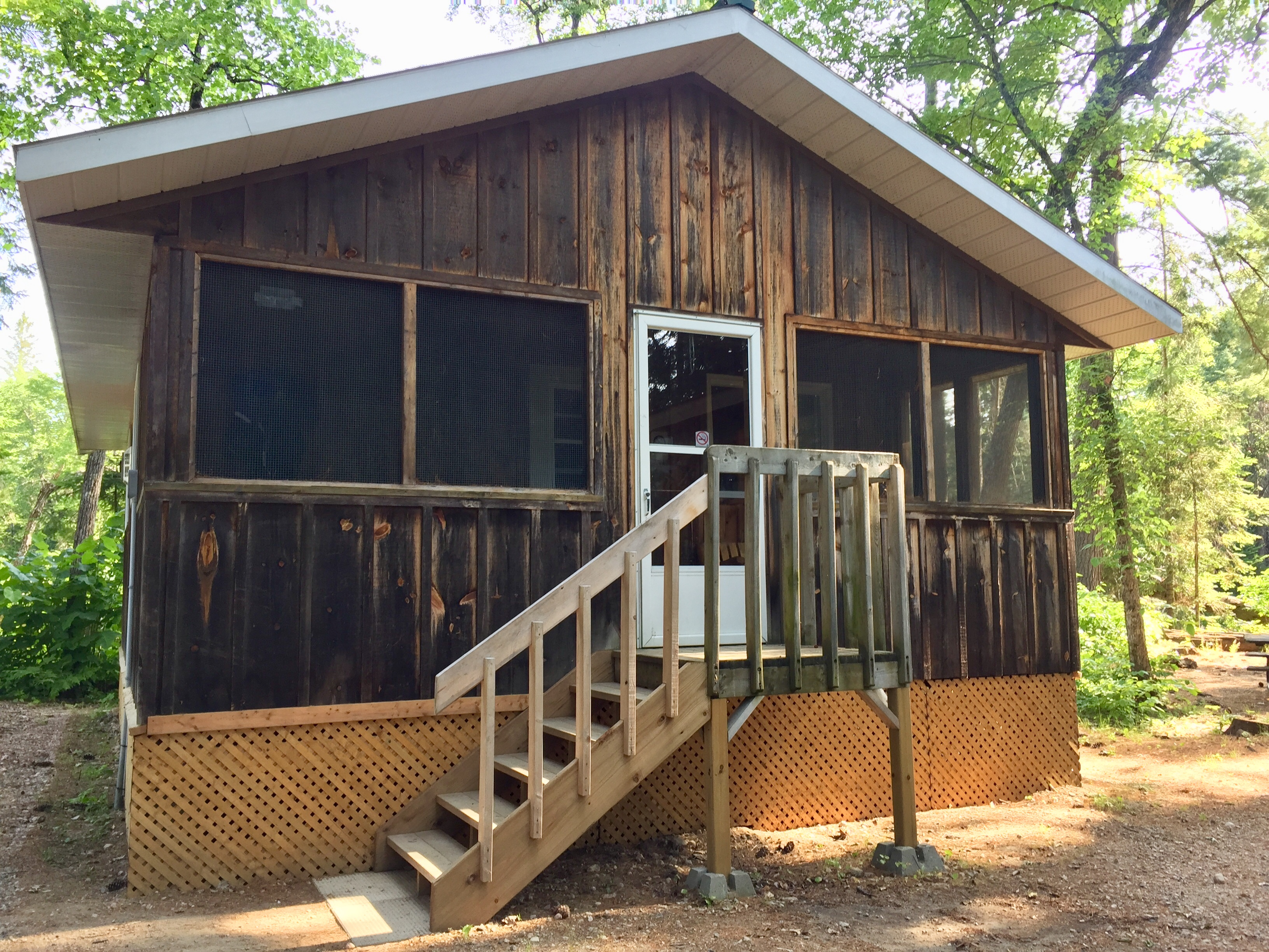 Glamping cabin at Bonnechere Provincial Park