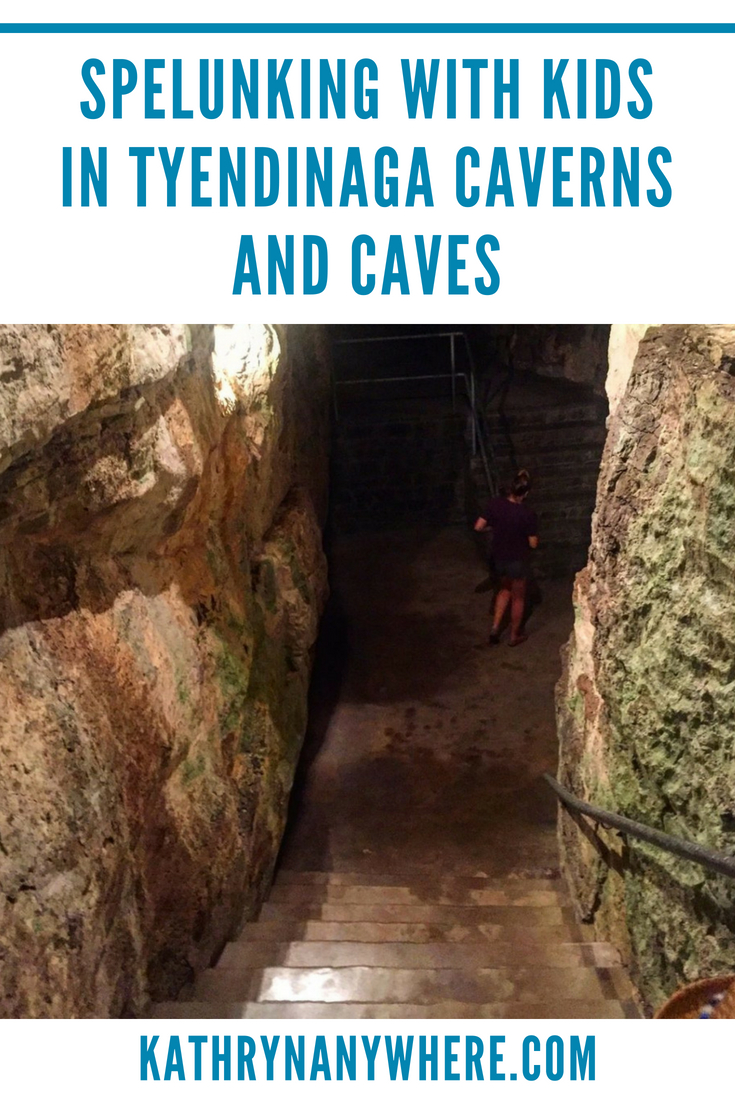 caves and cavern visit with kids
