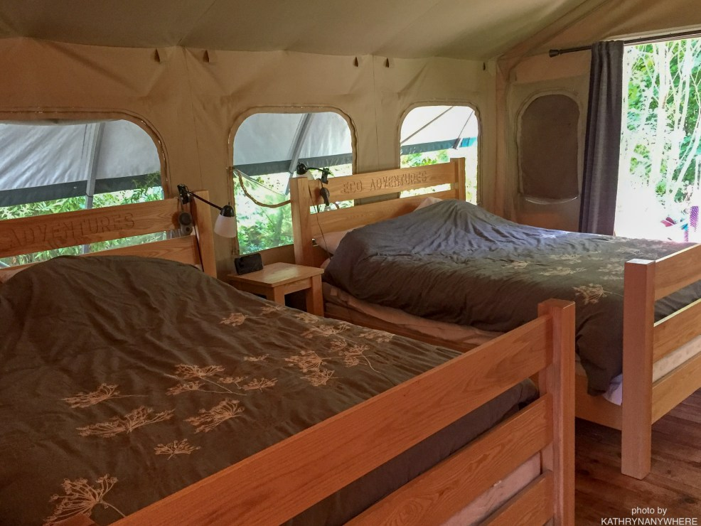 Luxury Family Glamping Ontario, two queen size beds