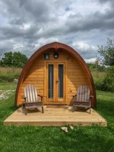 Luxury Family Glamping Ontario, camping pod