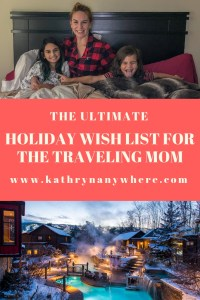 The ULTIMATE HOLIDAY WISH LIST for the Traveling Mom #travelingmom #holidaywishlist #mompresents #fitkickslife #landsend #prana #coveredgoods #scandinaviespa #nordicspa #planeticket #giftguide #stockingstuffers #presentsformom