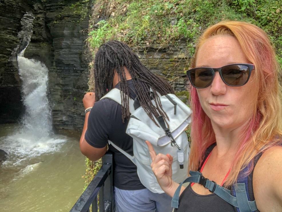 Watkins Glen State Park, New York, Gorge Trail. #chasingwaterfalls #momswhohike #friendswhohike #hikingday #waitwhatseries #waterfallchasers #myFLXtbex #watkinsglenstatepark #watkinsglengorgetrail #watkinsglengorge #upstateNY #fingerlakes #watkinsglen #racinghistory #upstatenewyork #iloveny #hikingmom #hikingadventures #womenwhohike #girlswhohike #sheexplores #empirestateofmind #empirestate #sheadventures #liveyouradventure #wildnewyork #hikeNewYork #chrisrudder #rudderless