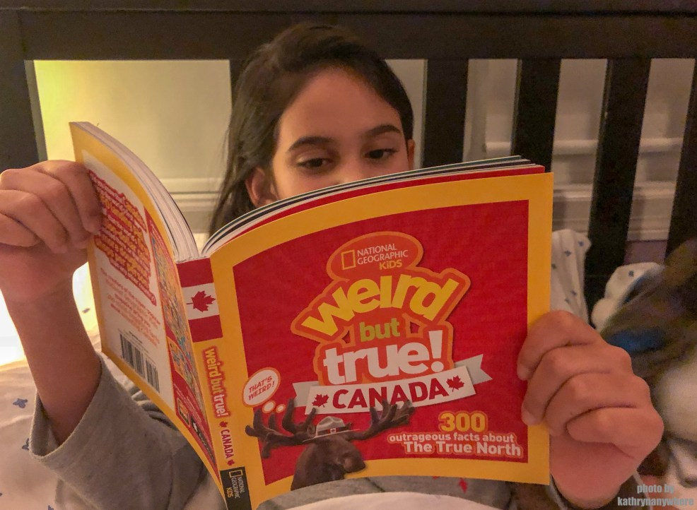 Weird but True Canada bedtime Reading #natgeokids #momsmeet #ngkids #weirdbuttrue #bookseries #kidsbooks #funbooksforkids