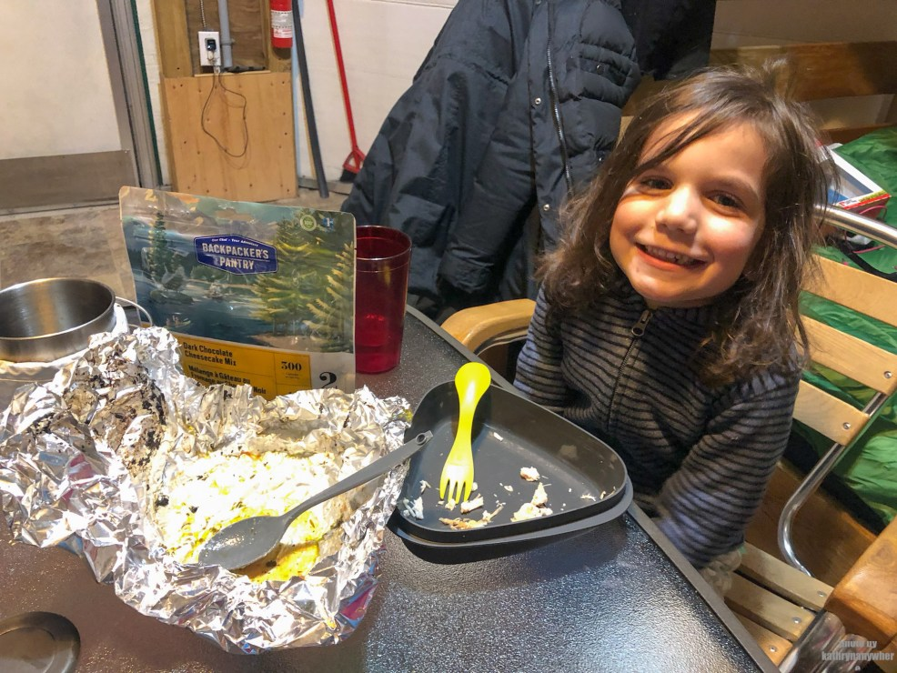 Cooking while winter camping at MacGregor Point Provincial Park in February! Enjoying rehydrated food inside the yurt from MEC #findyourselfhere #macgregorpointprovincialpark #macgregorpoint #macgregorpp #ontarioparks #yurtcamping #wintercamping #outdoors #adventureparenting #portelgin #brucepeninsula #campcooking