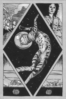 """""""Space Cats"""" page 1 print"""