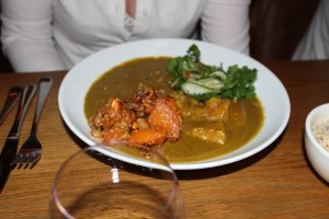 Yellow Curry with Spiced pumpkin $28.50