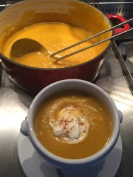 Pumpkin Soup with Creme Fraiche