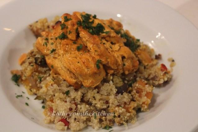 Chicken Tandoori with Quinoa Salad