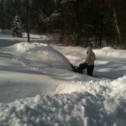 Got the snowblower going in Newtown on snowday 6