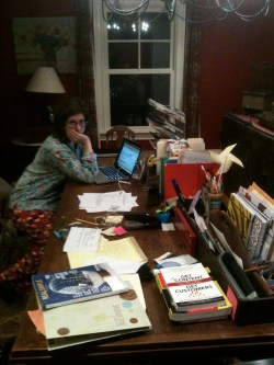 CT writer Kathryn Mayer at her home office