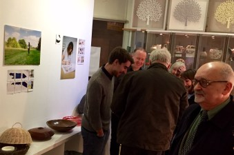 At the private view