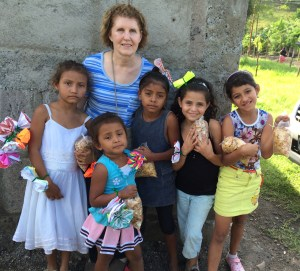 Me and several children at the village