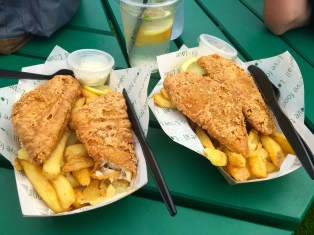 Tasty and tender fish and chips