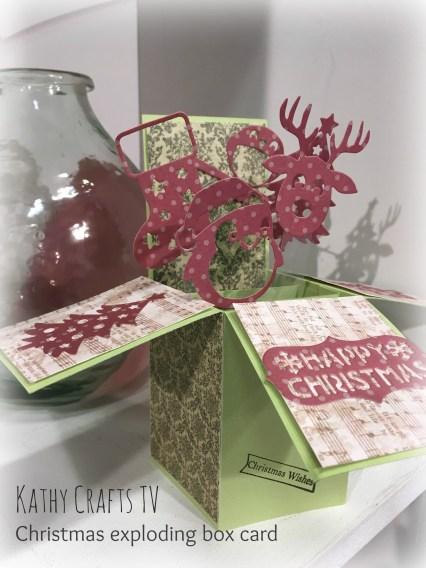 Christmas pop up box card tutorial