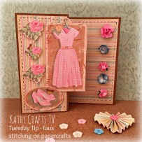 How to do a faux stitching border