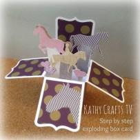 Horse pop up box card tutorial