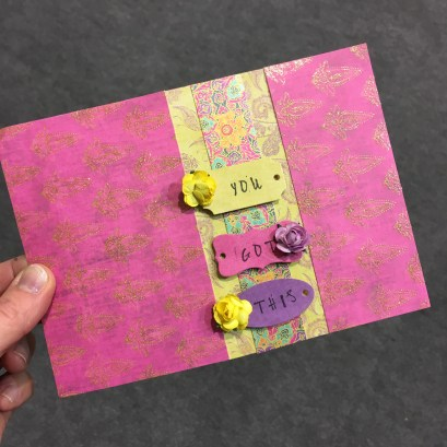 Trimcraft Storyteller papers and Dovecraft tag dies make a cute card