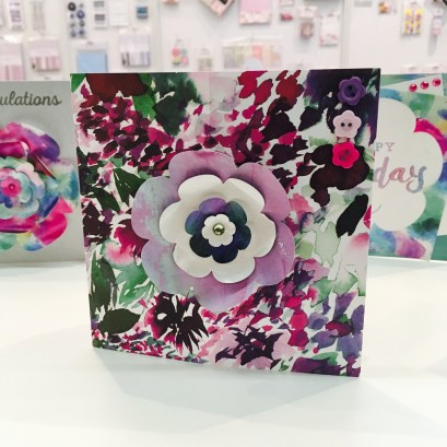 Trimcraft Wild Flower papers and nesting flower dies