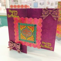 Front gatefold card using Trimcraft First Edition Storyteller papers
