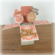Step by step exploding box card tutorial