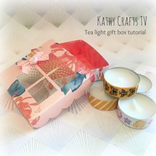 Tea light gift box tutorial