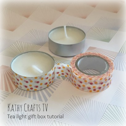Tea light gift box project step 1