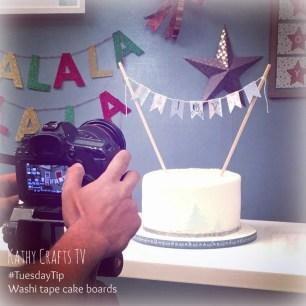 TuesdayTip Washi for a cake board trim6