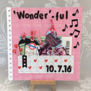 Wonderful Dovecraft Kiss and Makeup scrapbook layout
