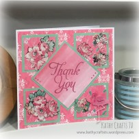 Create & Craft live demo - Trimcraft First Edition Sweet Nothings paper