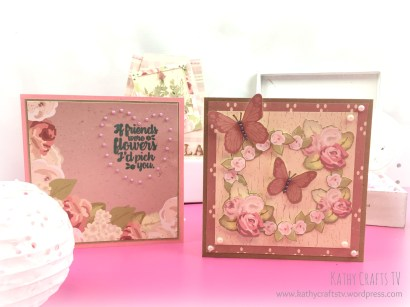 Cards made with Simply Creative Floral Notes