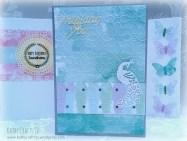 Embossed card floral design Sugar Rush papers
