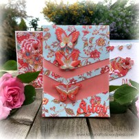 Floral Fusion Butterfly vellum card