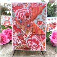 Floral Fusion peel back card