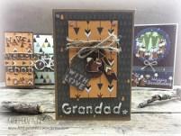 Handmade Grandad card forest themed