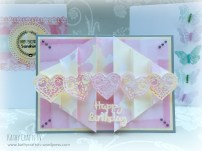 pleat fold card with Sugar Rush papers