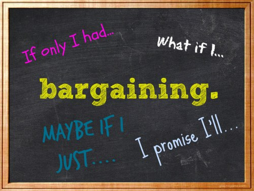 bargaining chalkboard